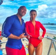 Dwayne Johnson with Ilfenesh Hadera