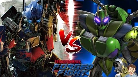 Optimus Prime Vs Waspinator Transformers Forged to Fight Gameplay Raid
