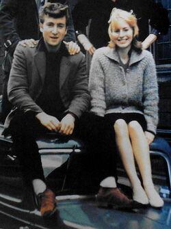 John and Cynthia on car