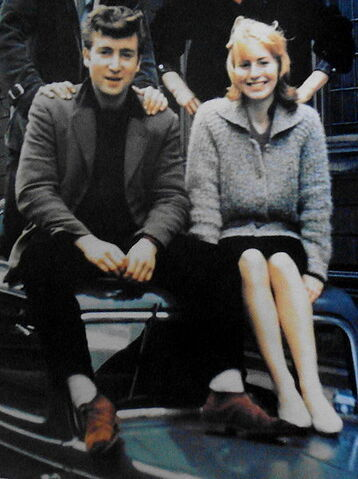 File:John and Cynthia on car.JPG