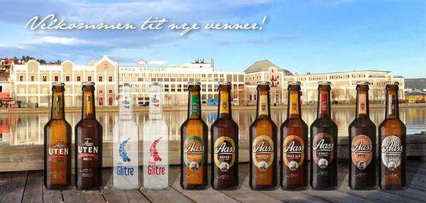 Aass beer bottles