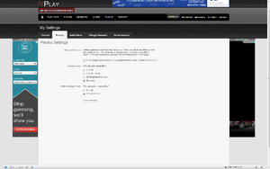 NPlay Privacy Settings