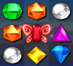 Bejeweled 3 Red Butterfly