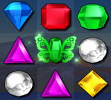 Bejeweled 3 Green Butterfly