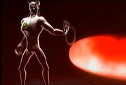 Alien X using his powers