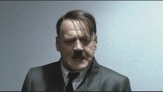Hitler looking angry