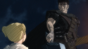Guts assists Farnese