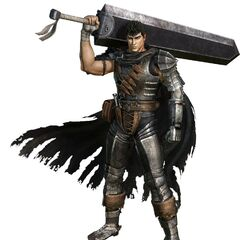 Promotional art of Guts as the Black Swordsman.
