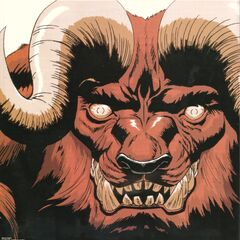 Promotional art of Zodd's face in his <a href=