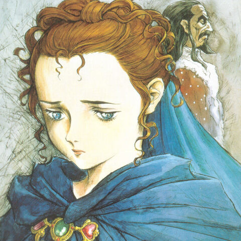 Extra art of a sad Charlotte featured on the DVD for the 1997 anime.