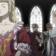 Serpico and Farnese at a royal ball.