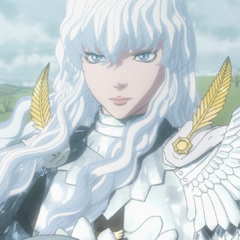 Griffith gazes at the battlefield after slaughtering the Kushans.
