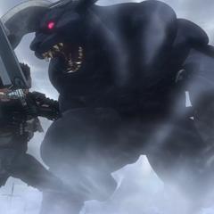 Zodd transforms into his <a href=