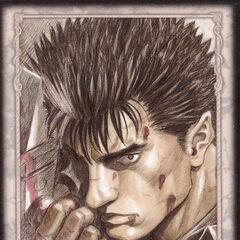 Guts holds the Dragonslayer. (Secret card 21)