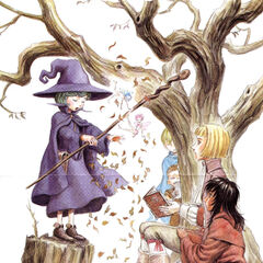 Serpico watches Schierke demonstrate magic to Farnese from behind a tree alongside <a href=