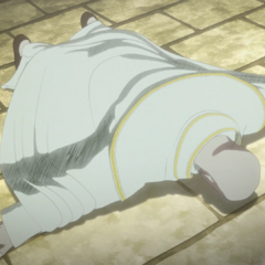 Mozgus' bizarre ritual, consisting of slamming his face on the ground one-thousand times in prayer.