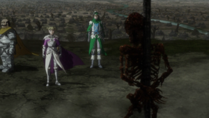 Farnese watches a burnt corpse