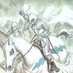 Griffith charging into battle with fellow Hawks.