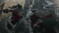 Grunbeld slaughters foes