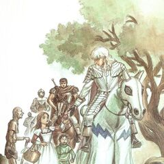Griffith is admired by young children as Guts watches.