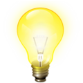 Bulb icon light yellow 3d.png