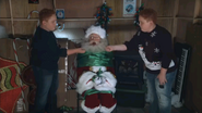 Twins Capture Santa