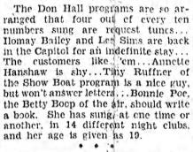 Broadcasting Studios 1933 Bonnie Poe
