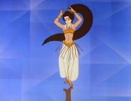 Nikki as a belly dancer