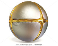 Stock-photo-metal-comic-sphere-on-white-background-isolated-49580017