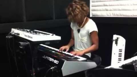 NAMM 2012 — Brittani Washington on the Roland JUPITER-80