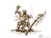 Dwarf Axe thrower concept art