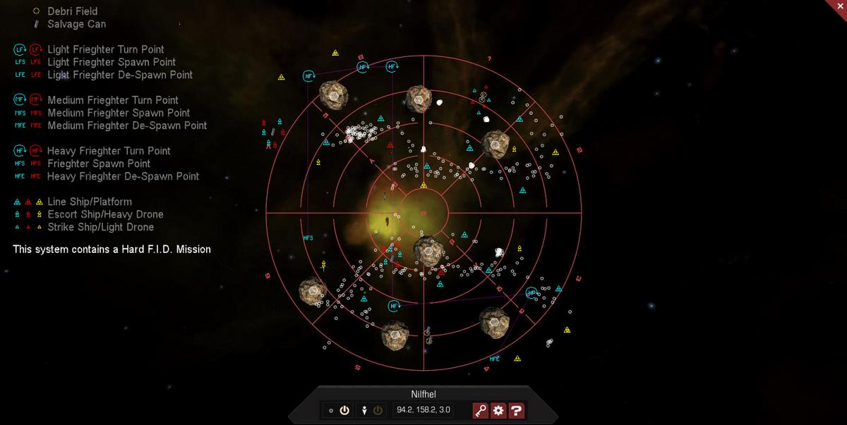 Nilfhel 3D System Map