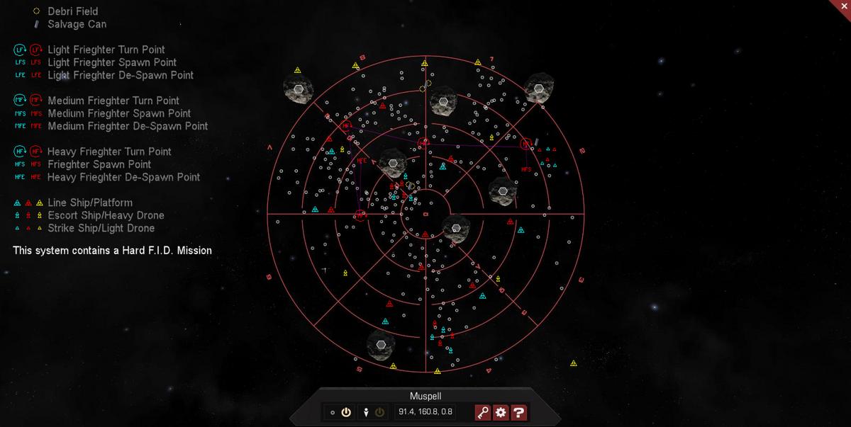 Muspell 3D System Map