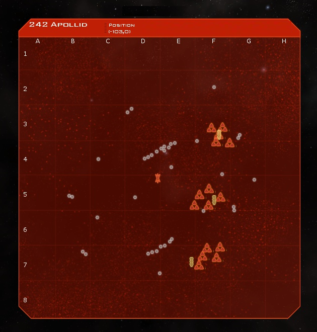 242 Apollid System Map