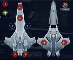 Colonial Stealth Ship Raven Mk-VI-R Systems Slots