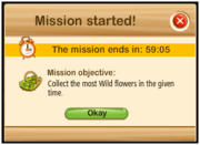 Mission collect started