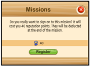 Mission collect register