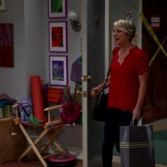 Penny out shopping for Leonard.