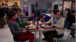 The guys in the cafeteria