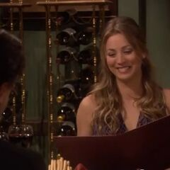 Penny on her date in Leonard's dream.