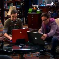 Sheldon and Leonard prepare for their online gaming marathon.