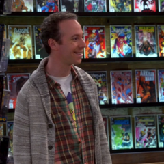 Stuart in his re-opened comic book store.