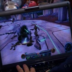 A scene from the Star Wars online game.
