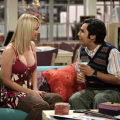 Penny speaks to Raj as he's drinking a Grasshopper.