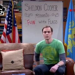 Sheldon getting ready for his