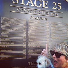 Kaley back in front of stage 25.