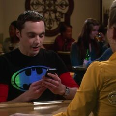 Sheldon visiting Penny's bar.
