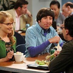 Bernadette introducing his girlfriend at work.