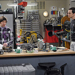 Sheldon comes to talk to Howard at his workplace.