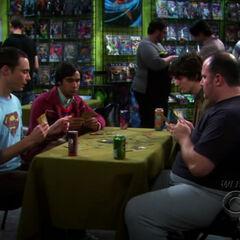 Sheldon vs. Captain Sweatpants.